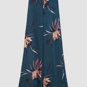 Zara Pants - NWT Zara Floral Satin High Waist Pants